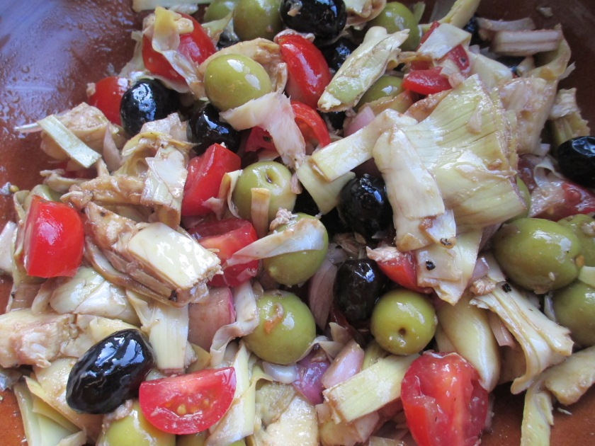 olive artichoke salad 2