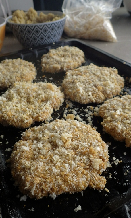 chickenless burgers uncooked