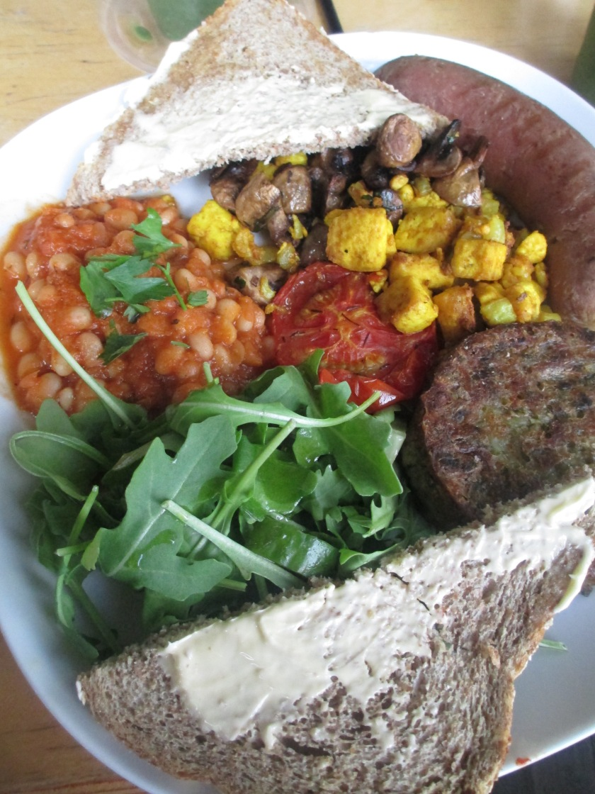 vegan breakfast at inspiral lounge in london