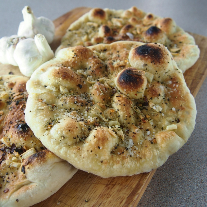 quick rise vegan garlic bread